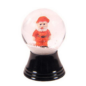 Alexander Taron Glass Mini Santa Snow Globe Ornament
