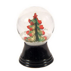 Alexander Taron Glass Mini Christmas Tree Snow Globe Ornament
