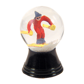 Alexander Taron Glass Mini Skier Snow Globe Ornament