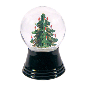 Alexander Taron Glass Small Christmas Tree Snow Globe Ornament PR1231