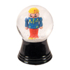 Alexander Taron Glass Small Nutcracker Snow Globe Ornament