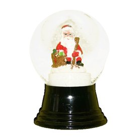 Alexander Taron Glass Sitting Santa Snow Globe Ornament