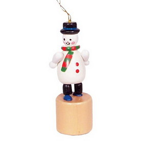 Alexander Taron Wood Snowman Push Toy Ornament
