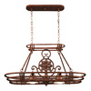 Kenroy Home 36-in x 15-in Glided Copper Oval Pot Rack