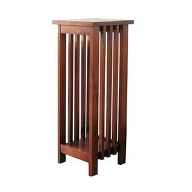 Shop wayborn furniture 30 in square wood plant stand at for Affordable furniture grants pass oregon