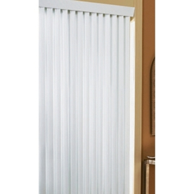 Project Source White Vinyl Light Filtering Cordless Vertical Blinds (Common 78-in; Actual: 78-in x 84-in)