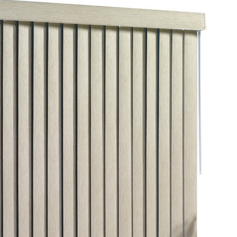 shop style selections light taupe vinyl 3 5 in slat room