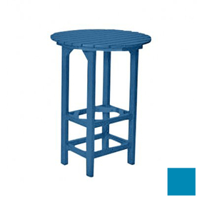Shop Beachfront Furniture 31 In Round Plastic Patio Bar Height Table At Lowes