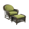 Outdoor Greatroom Company Balsam Wicker Patio Glider with Cushion