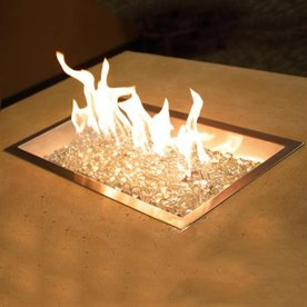 Outdoor Greatroom Company 60,000-BTU 42.75-in Stainless Steel Liquid Propane Fire Pit