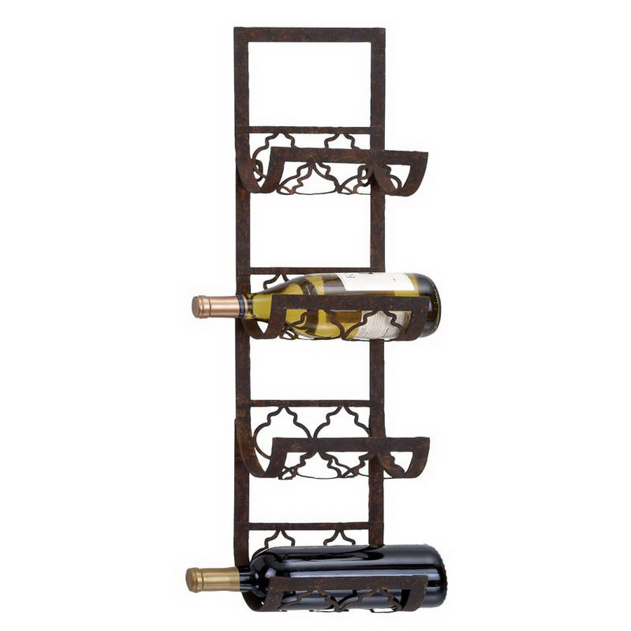 shop woodland imports 4 bottle wall mount wine rack at