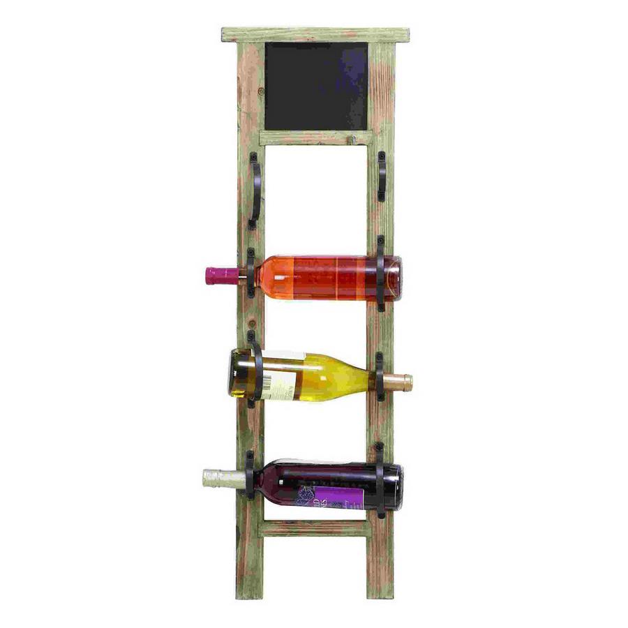 Shop woodland imports unique 4 bottle wall mount wine rack for Wall mount wine rack