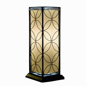 Bionic Products of America 24-in H Black Outdoor Table Lamp with Shade