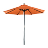 Phat Tommy Octagon Tuscan Orange Umbrella with Pulley (Common: 9-ft x 9-ft; Actual: 9-ft x 9-ft)