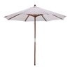 Phat Tommy Natural White Market Patio Umbrella