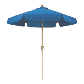 Phat Tommy Marina Blue Market Umbrella with Tilt-and-Crank (Common: 7.66-ft x 7.66-ft; Actual: 7.66-ft x 7.66-ft)
