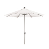 Phat Tommy Octagon White Market Umbrella with Tilt-and-Crank (Common: 9-ft x 9-ft; Actual: 9-ft x 9-ft)