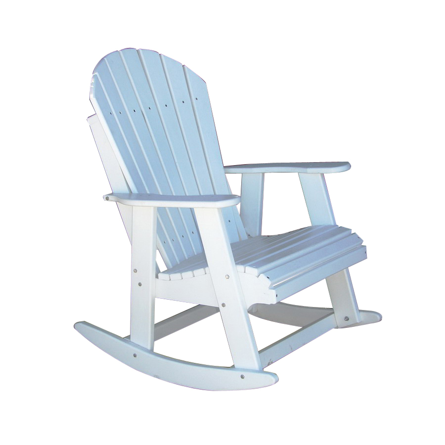 ... Tommy Alpine White Wood Slat Seat Outdoor Rocking Chair at Lowes.com