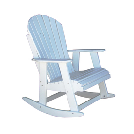 Tommy alpine white wood slat seat outdoor rocking chair at lowes com