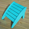 Phat Tommy Teal Recycled Polyester Foot Stool