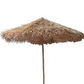 Bamboo 54 Round N/A Patio Umbrella (Common: 60-in; Actual: 60-in)