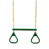 Gorilla Playsets Green/Yellow Ring/Trapeze Combo