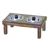 UMA Enterprises Steel Stainless Steel Double Basin Pet Bowl