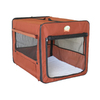 Go Pet Club 3.58-ft x 2.33-ft x 2.66-ft Brown Collapsible Plastic Pet Crate