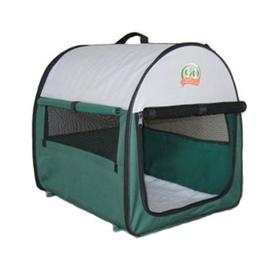 Go Pet Club 1.45-ft x 1.2-ft x 1.375-ft Green Collapsible Plastic Pet Crate