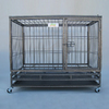 Go Pet Club 3.08-ft x 2.04-ft x 2.66-ft Hammertone Collapsible Plastic and Wire Pet Crate