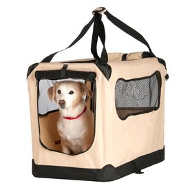 Great Paw 1.83-ft x 1.33-ft x 1.33-ft Beige Collapsible Pet Crate