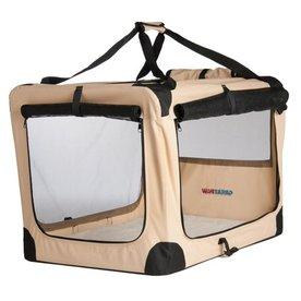 Great Paw 3.33-ft x 2.25-ft x 2.25-ft Beige Collapsible Pet Crate