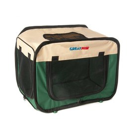 Great Paw 2.16-ft x 1.5-ft x 1.58-ft Green Collapsible Pet Crate