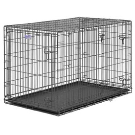 midwest pets 4-ft x 2.5-ft x 2.75-ft Pewter Collapsible Plastic and Wire Pet Crate