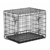 midwest pets 2.08-ft x 1.58-ft x 1.75-ft Black Collapsible Plastic and Wire Pet Crate