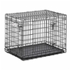 midwest pets 31-in x  21.5-in x 24-in Black CollapsIble Plastic and Wire Pet Crate