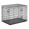 midwest pets 37-in x 24.5-in x 28-in Black CollapsIble Plastic and Wire Pet Crate