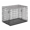midwest pets 43-in x 28.5-in x 31.5-in Black CollapsIble Plastic and Wire Pet Crate