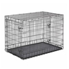 midwest pets 4.08-ft x 2.5-ft x 2.91-ft Black Collapsible Plastic and Wire Pet Crate