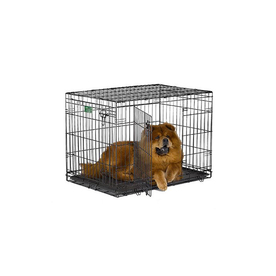 midwest pets 36-in x 23-in x 25-in Black Collapsible Plastic and Wire Pet Crate