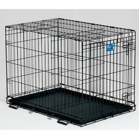 midwest pets 2.5-ft x 1.75-ft x 2-ft Black Collapsible Plastic and Wire Pet Crate