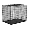 midwest pets 4.5-ft x 3.08-ft x 3.75-ft Black Plastic and Wire Pet Crate