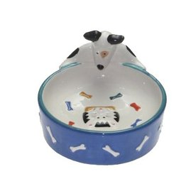 Snoozer Ceramic Dog Bowl