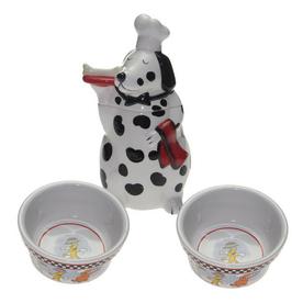 Snoozer Ceramic Double Basin Dog Bowl