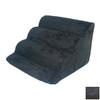 Snoozer Scalloped 4-Step Black Foam Pet Step