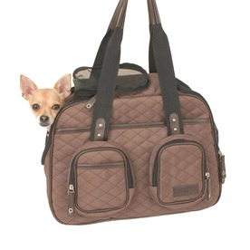 Snoozer 1.25-ft x 0.6-ft x 1-ft Brown Quilted Pet Carrier