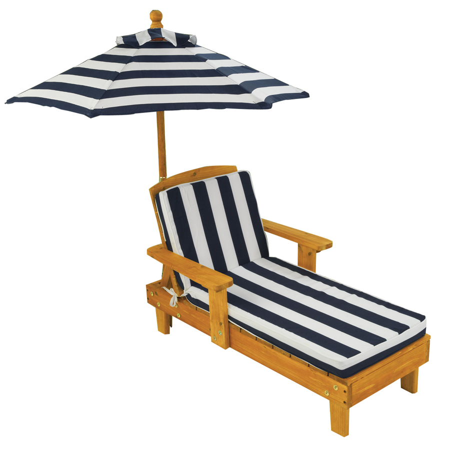 Shop Kidkraft Cushioned Wood Patio Chaise Lounge At