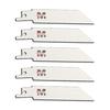 Morris Products 5-Pack 4-in 18-TPI Bi-Metal Reciprocating Saw Blade Set