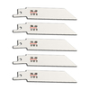Morris Products 5-Pack 4-in 24 TPI Bi-Metal Reciprocating Saw Blades