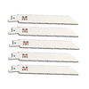 Morris Products 5-Pack 6-in 10-TPI Bi-Metal Reciprocating Saw Blades